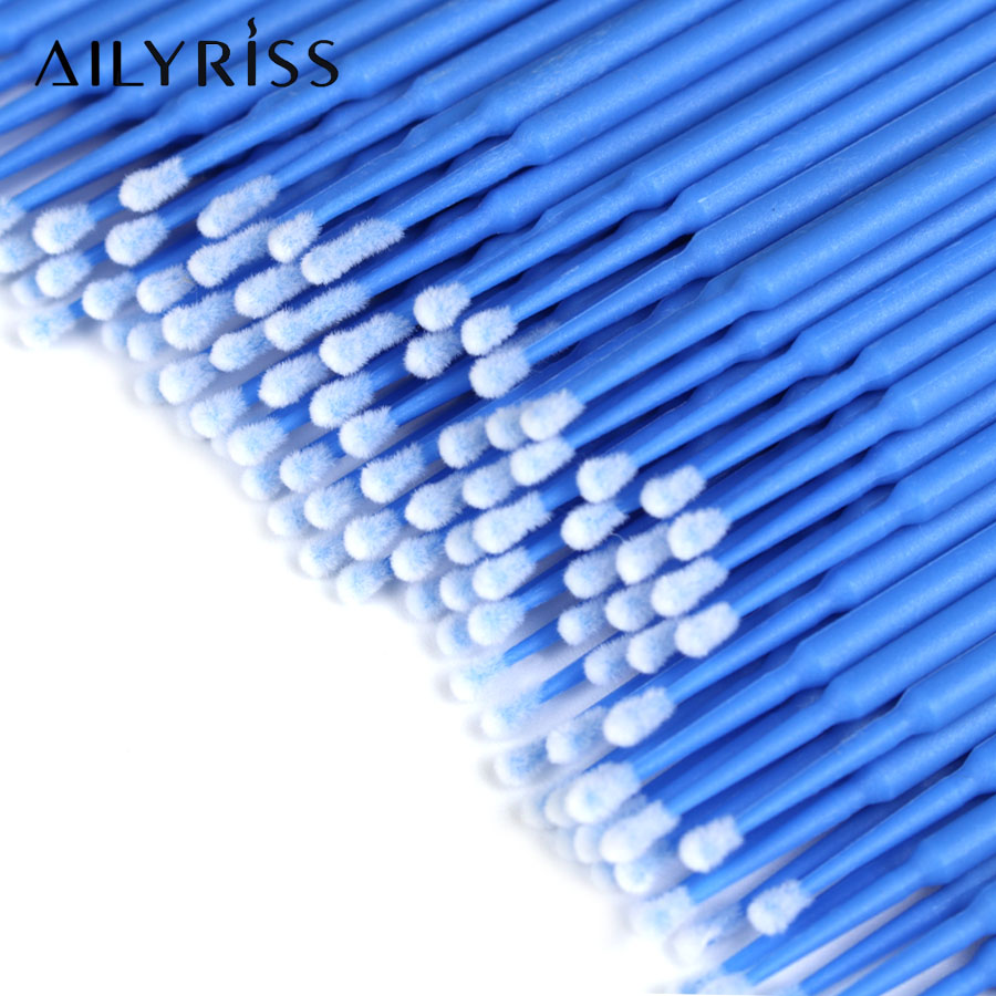 300/500pcs Micro Brushes Disposable Applicator Swab For Eyelash Extension Mascara Brush Eye Makeup Glue Remove Tool Personal