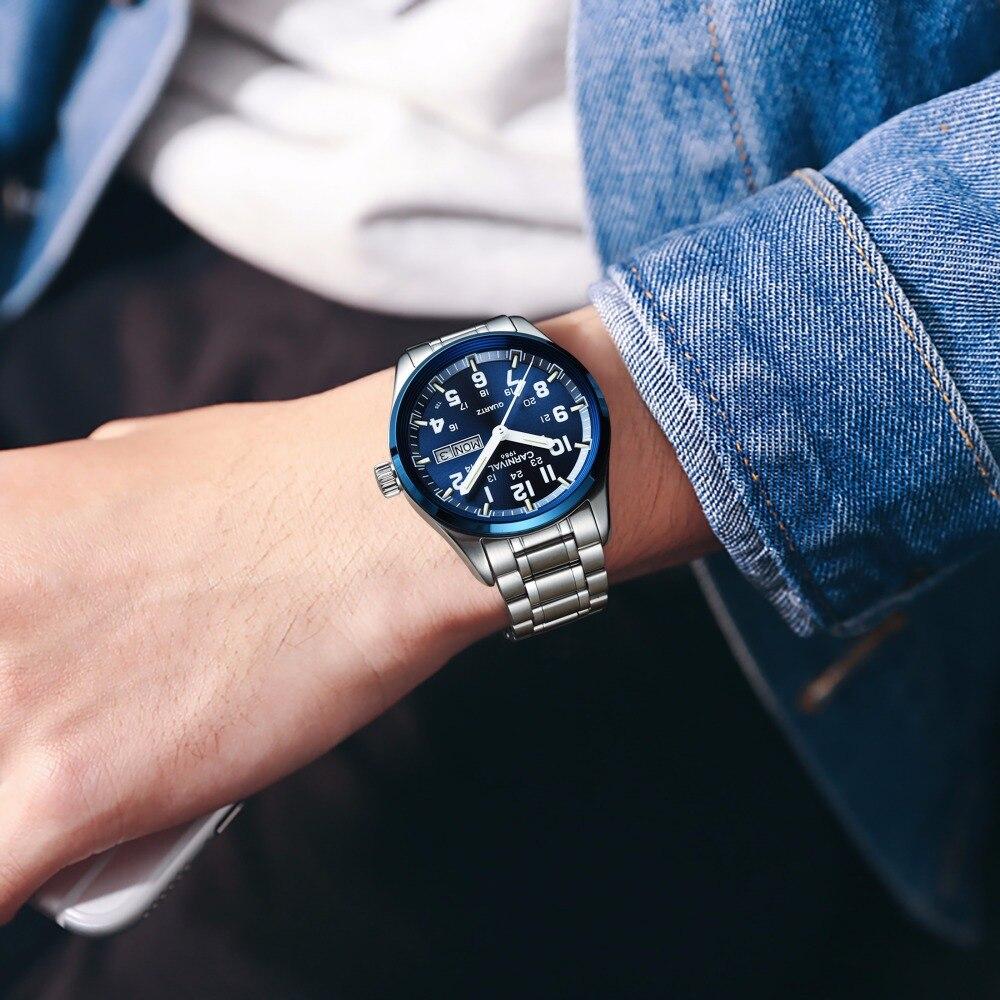 Carnaval tritium T25 lumineux Double calendrier militaire suisse montre à Quartz hommes marque de luxe montres étanche horloge 2017 - 2
