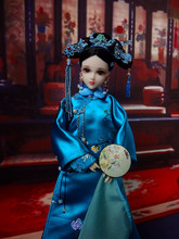 12 Traditional Chinese Girl Dolls Handmade Vintage Qing Dynasty Princess Dolls Girl Toys For Collection Free Shipping 32cm traditional chinese queen dolls pretty girl bjd dolls movies