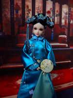 """12 """"tradizionale Cinese Della Ragazza Bambole Fatte A Mano Vintage Dinastia Qing Principessa Bambole Della Ragazza Giocattoli Per La Raccolta Il Trasporto Libero"""