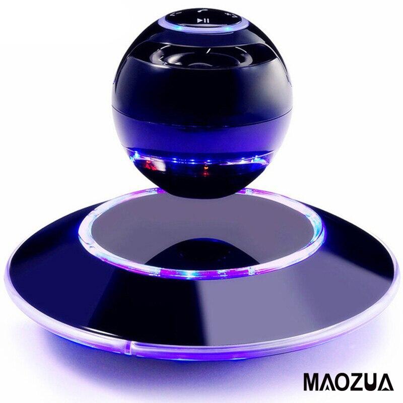 Galleggiante Altoparlante 3D Stereo di Musica di Rotazione Levitazione Surround Altoparlante Portatile Senza Fili Bluetooth Speaker per iPhone Xioami