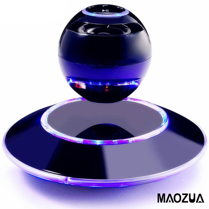 Vwar Portable Wireless Floating Orb Bluetooth Wireless Stereo Rotating 360 Degree Speakers Magnetic Levitation