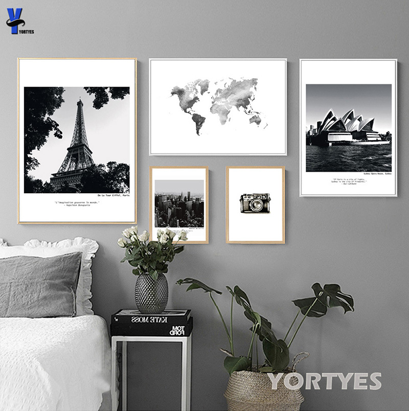 Nordic Canvas Prints Wall Art Pictures Home Decor Tower