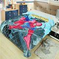 Супергерой дети Cobertor на кровати / детский мультфильм человек - паук мягкий плюш спать одеяло путешествия одеяло / паук одеяло
