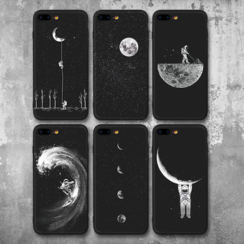 Space Moon Astronaut Phone Cases For iPhone 6, 7, 8, X, XR, XS MAX