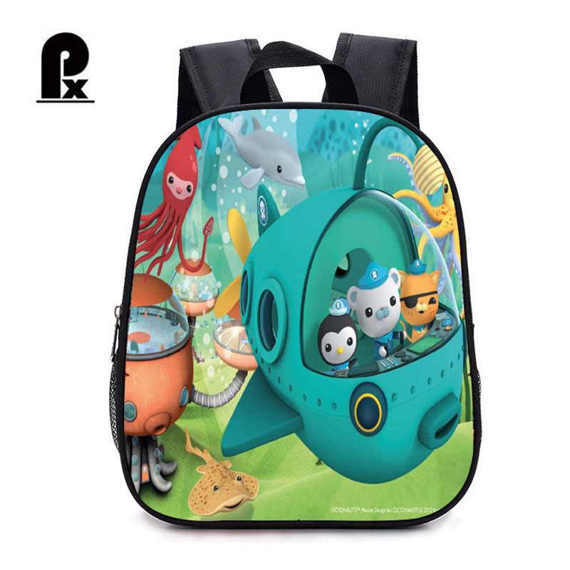Children Backpack Kindergarten Backpack Boy Cute Octonauts Cartoon Backpack Hot Cartoon Backpack School Bags For Boys And Girl