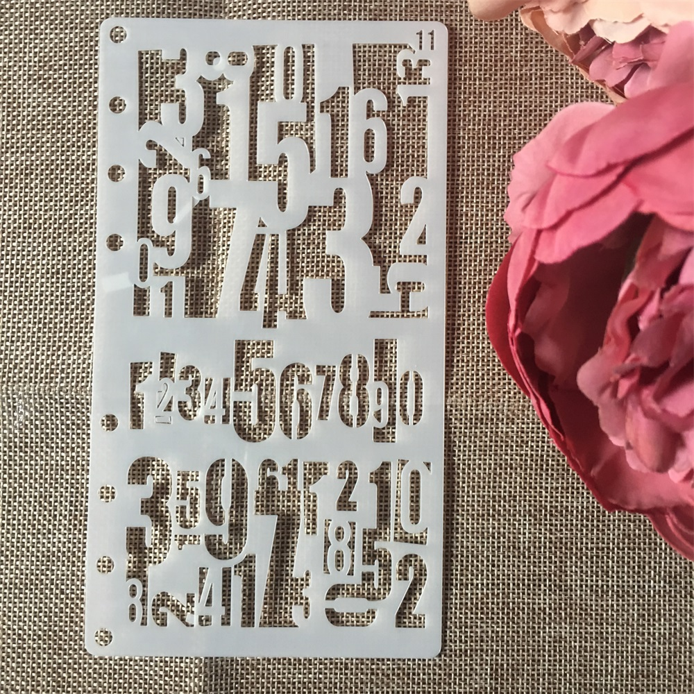 1Pcs A6 Number 0-9 Digit DIY Craft Layering Stencils Wall Painting Scrapbooking Stamping Embossing Album Paper Card Template