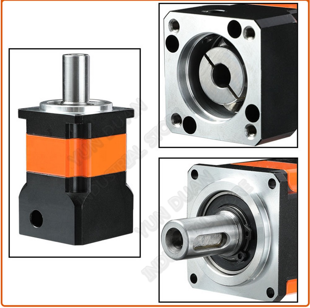 4:1  Planetary Reducer Speed 4 Ratio 50W 100W Servo stepper motor 42mm 40mm 7Arcmin Backlash Gearbox for CNC Lathe Robot4:1  Planetary Reducer Speed 4 Ratio 50W 100W Servo stepper motor 42mm 40mm 7Arcmin Backlash Gearbox for CNC Lathe Robot