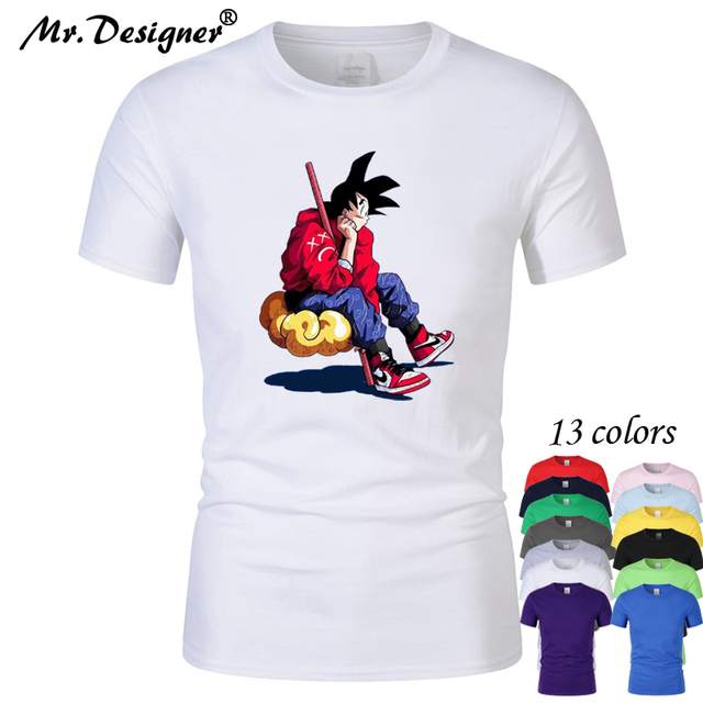 2019 New Dragon ball goku jordan 1 brand T shirt men women Clothing Hip Hop  Print High Quality gym Short Sleeve 13colors CT04076 fe0cf36b64