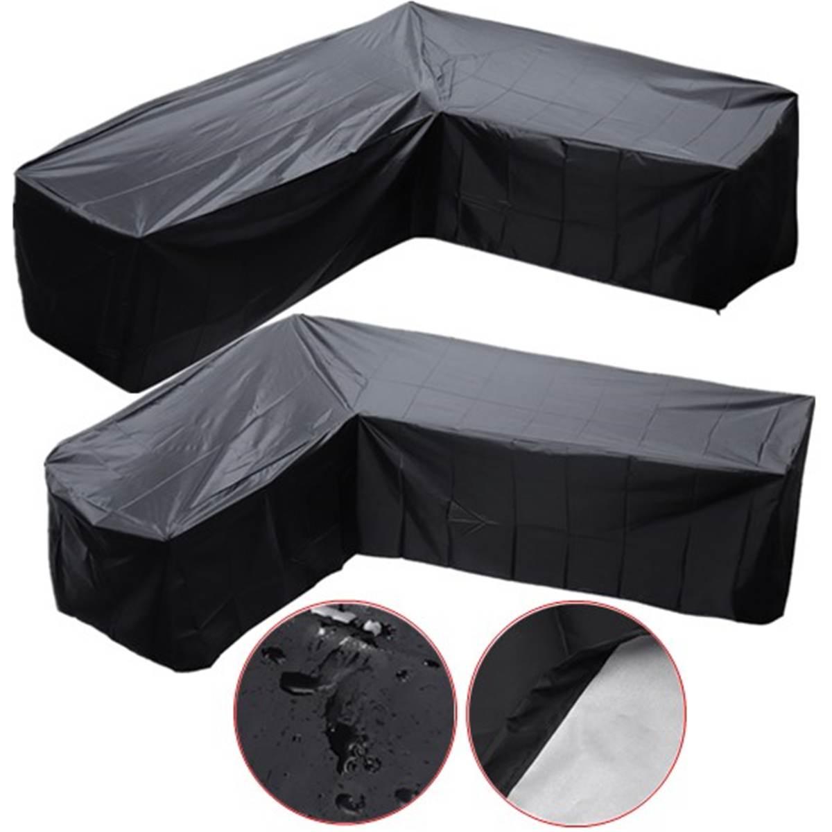 Housse de canapé d'angle en forme de L pour intérieur balcon Patio jardin housse de mobilier d'extérieur imperméable à l'eau