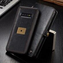 Archiwalne etui na portfel do Samsung Galaxy S10 Plus luksusowe klapki magnetyczne skórzane gumowe tylna pokrywa dla Samsung Galaxy S10e S10 przypadku