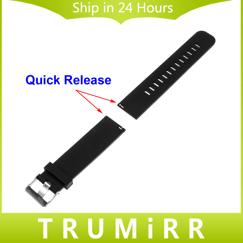 Silicone Rubber Band Quick Release for Pebble Time Round 20mm Huawei Watch 2 Bradley Timepiece Stainless Steel Clasp Wrist Strap 20mm milanese watch band quick release for samsung gear s2 classic sm r7320 pebble time round stainless steel strap bracelet