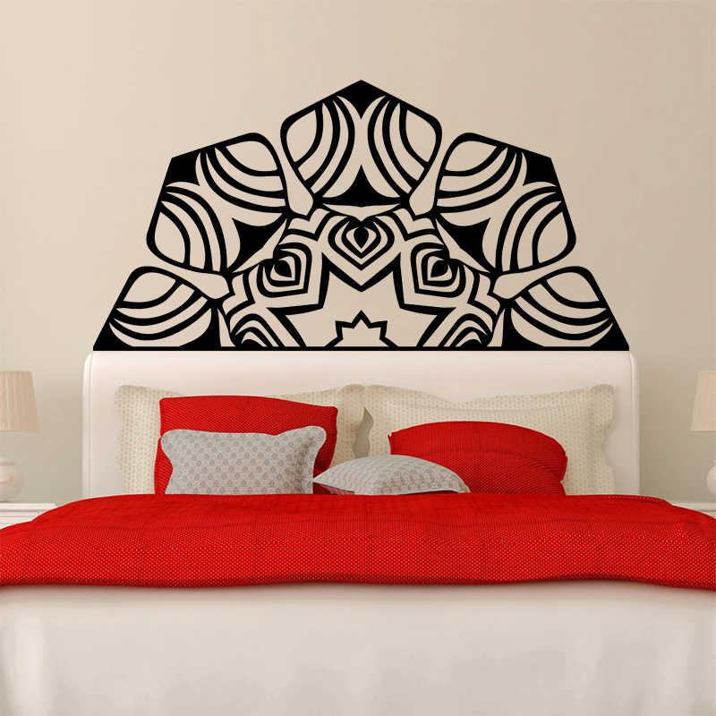 El más nuevo Namaste Mandala Yoga arte pared pegatina cama habitación Lotus meditación India Buda Dios OM Symnol vinilo Interio decoración del hogar