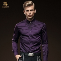 Free Shipping New Male Casual Personality Business 512080 Long Sleeved Men S Embroidered Shirt
