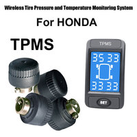 Auto Car Wireless Tire Pressure Monitoring System for Honda with 4pcs External Sensor Tire Pressure Alarm Systems Security
