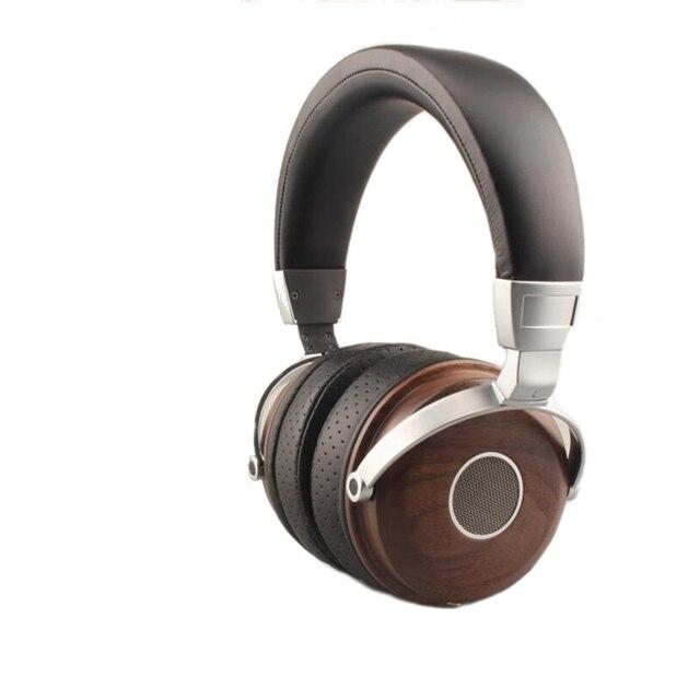 High Quality senior Wood Headphones Headband HiFi Wired Stereo Diy Music Headset PC Noise Isolating Big