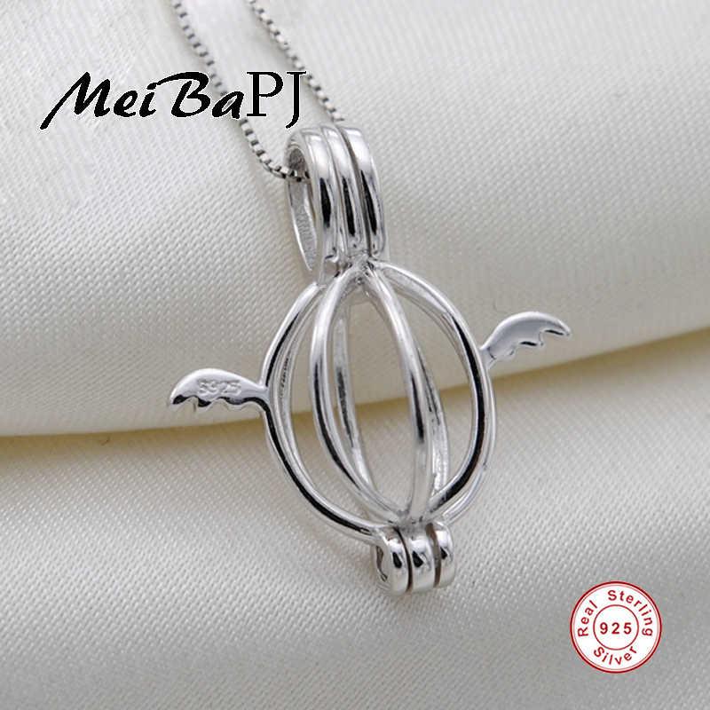 [MeiBaPJ] Angel ไข่ peanant คุณภาพสูง real pearl เครื่องประดับร้อนขาย 925 เงินจี้สร้อยคอ 45 ซม. ห่วงโซ่ของขวัญกล่อง