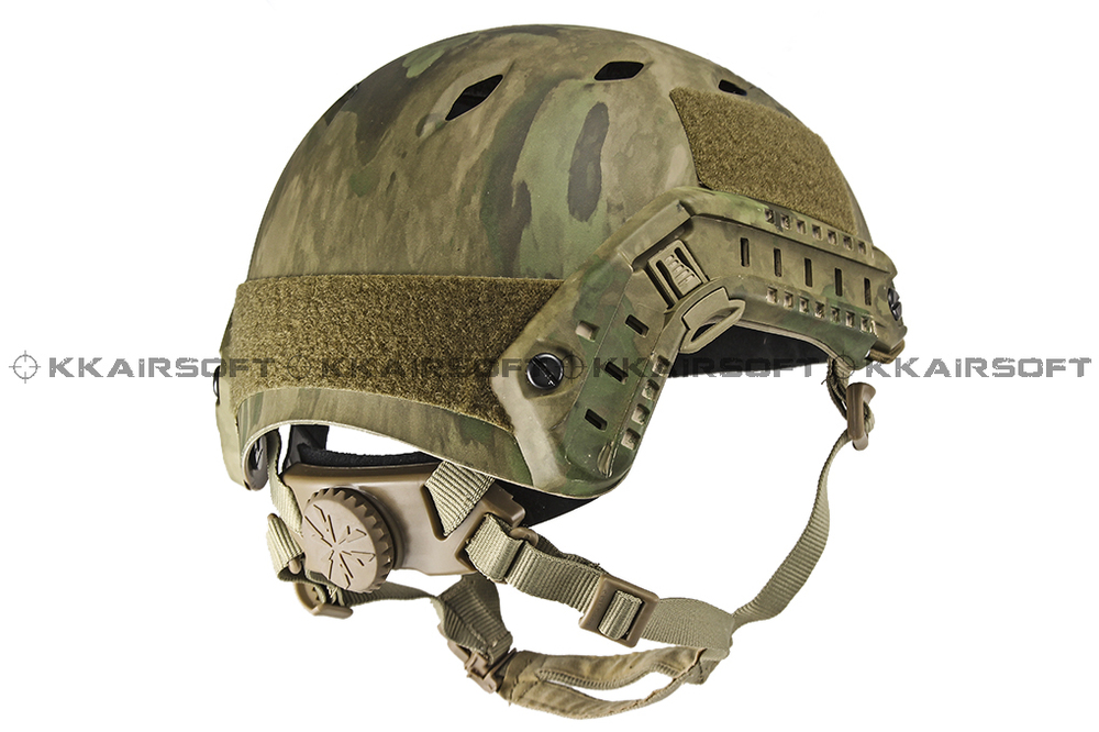 ФОТО Emerson Airsoft FAST helmet style Base Jump BJ Helmet (A-TACS FG)