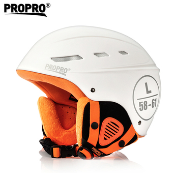 White Color Sports Safety Skiing Helmets With Inner Adjustable Buckle Liner Cushion Layer ABS+EPS  Unisex Adult Skiing Helmet