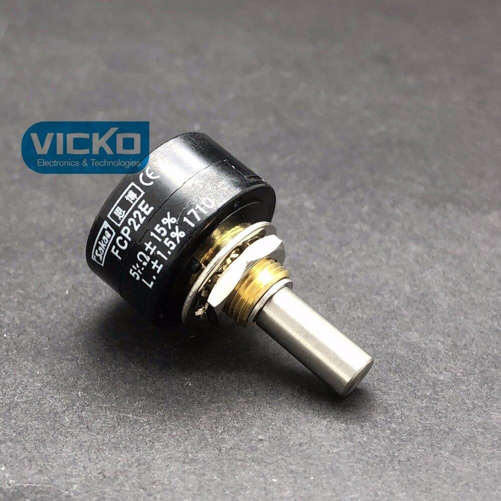 [VK] ORIGINALE FCP22E 1 K 2 K 5 K 10 K SAKAE 0.5% plastique Conducteur potentiomètre 1 Turn japon arbre 20mm commutateur
