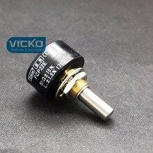 [Vk] オリジナル FCP22E 1 18k 2 18k 5 18k 10 18k 栄導電性プラスチックポテンショメータ 1 ターン日本シャフト 20 ミリメートルスイッチ