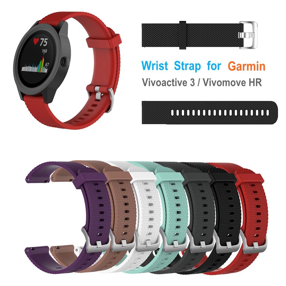 L/S Replacement Wrist Strap Watchband for Garmin Vivoactive3 Vivomove HR Samsung Gear S2 Sport Wristband Texture Band Bracelet