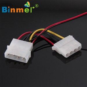 Image 2 - BINMER 120x120x25mm 4 פינים מחשב מאוורר צבעוני Quad 4 LED אור ניאון ברור 120mm מחשב מארז מחשב קירור מאוורר Mod C0608