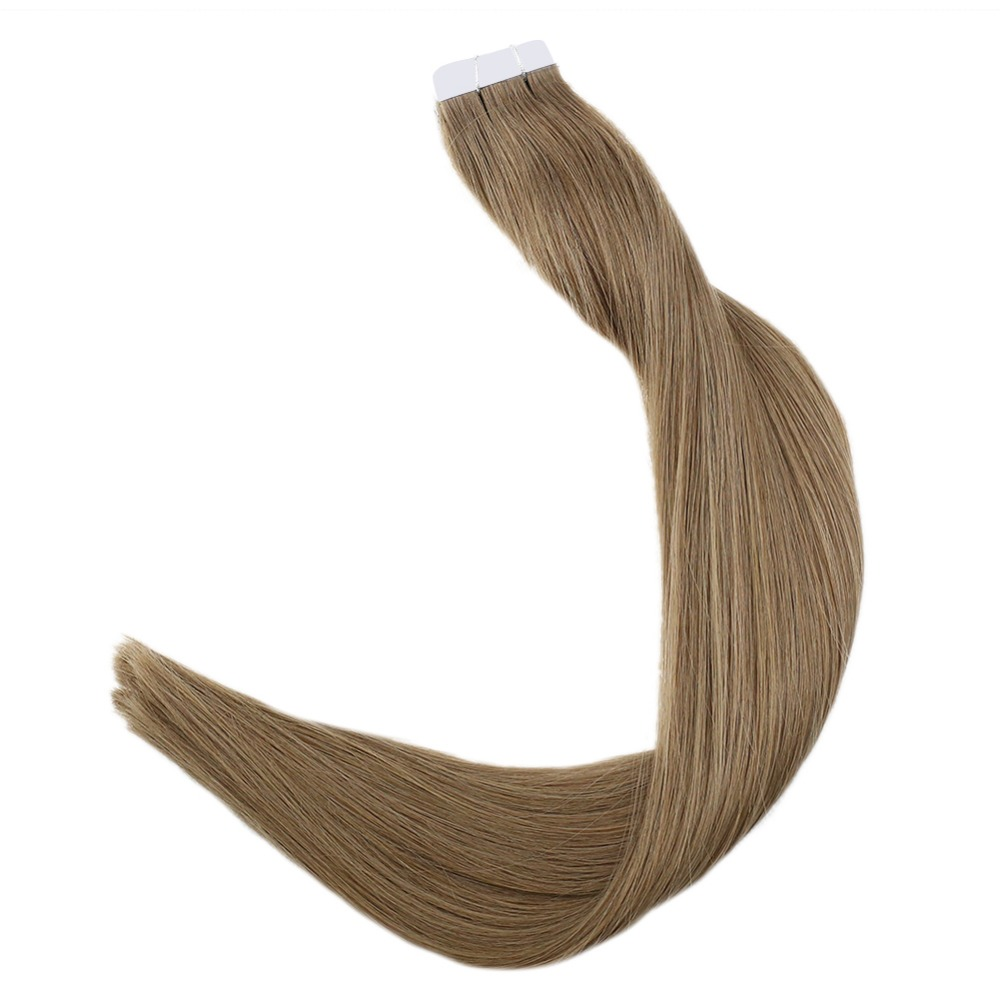 Full Shine Remy Human Hair Extensions Tape in Hair Pure Colorful Hair 50g 20Pcs Adhesive Tape on Hair Perucas De Cabelo Humano in Tape Hair Extensions from Hair Extensions Wigs