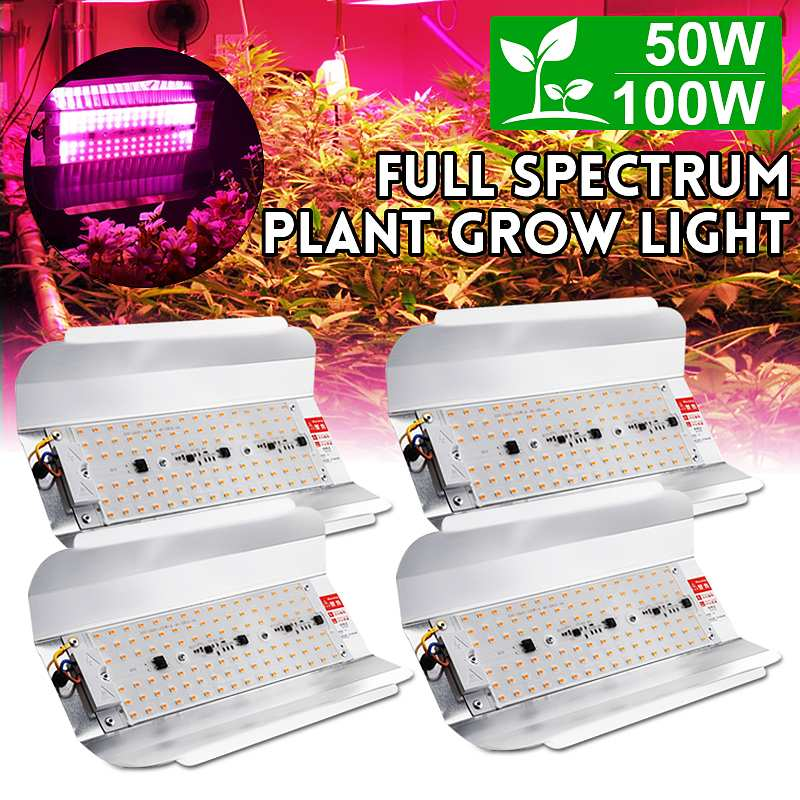 Smuxi <font><b>LED</b></font> <font><b>Grow</b></font> Light <font><b>50W</b></font> 100W <font><b>Full</b></font> <font><b>Spectrum</b></font> Phyto Flood lights Iodine Lamp AC 220V <font><b>LED</b></font> <font><b>Grow</b></font> Lamp Waterproof ip65 image