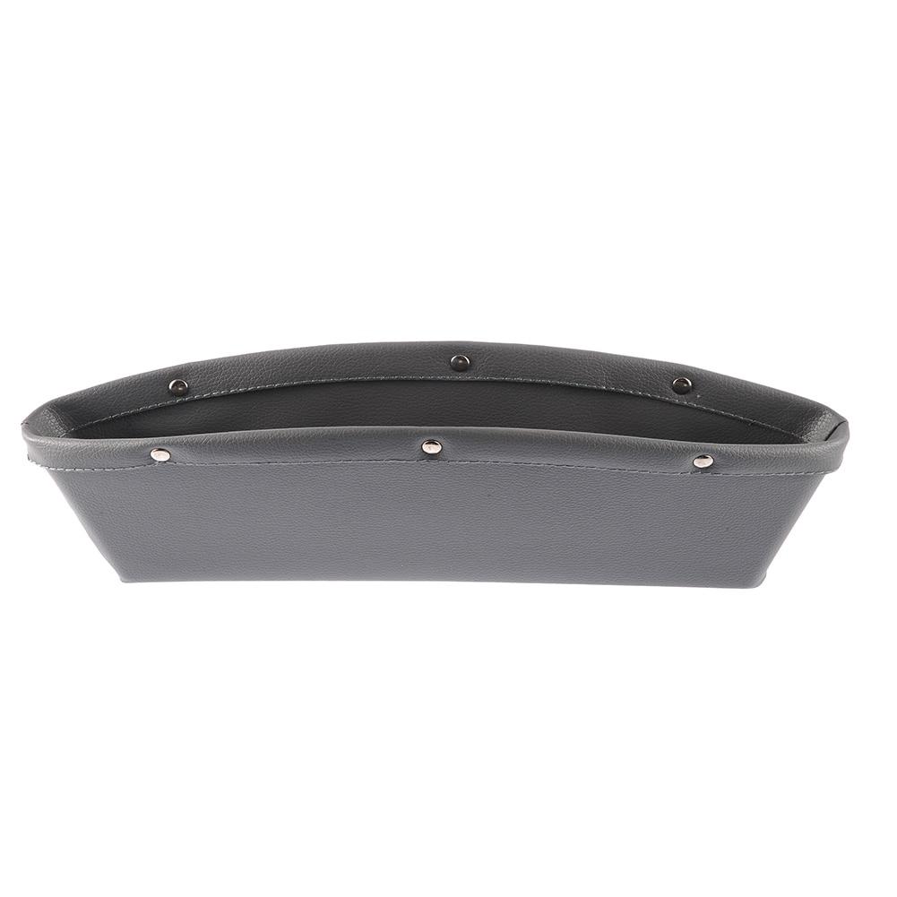 2pcs Creative Car Auto Car Seat Gap Pocket Catcher Storage Box Leather Organizer Leak-Proof Storage Box Auto Bag Container