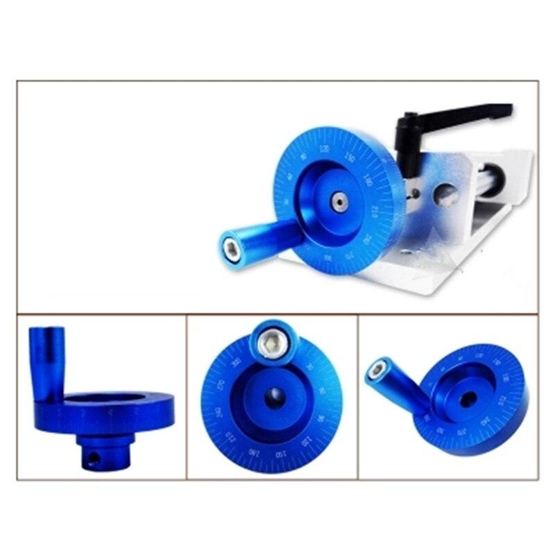 1 шт. ЧПУ 3D-принтеры маховик со шкалой слайд специальный прикручиваемый металлический двойной шкалой лазерный центра отверстия Диаметр 6,35/8/10 мм - Цвет: Синий