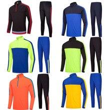 Спортивные костюмы для футбола, бега, спортивная одежда, куртка с длинными рукавами, свитер с круглым вырезом, спортивный футбольный костюм из Джерси, Толстовка для детей и мужчин