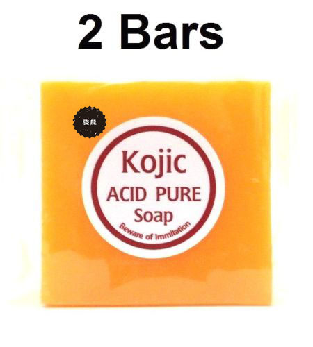 KOJIC ACID PURE SOAP WHITENING BLEACHING LIGHTENING SKIN 70 G X 2 Free Ship