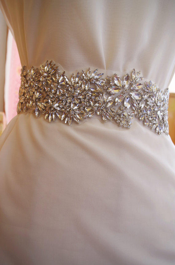4d737d224 Cristal rhinestone sash Applique, nupcial sash applique, strass cinto de  noiva casamento correia da faixa de noiva cinto de uma peça