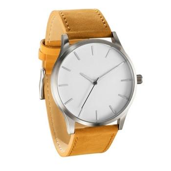 2021 NEW Luxury Brand Mens Watches Sport Watch Men's Clock Army Military Leather Quartz Wrist Watch Relogio Masculino - Brown white