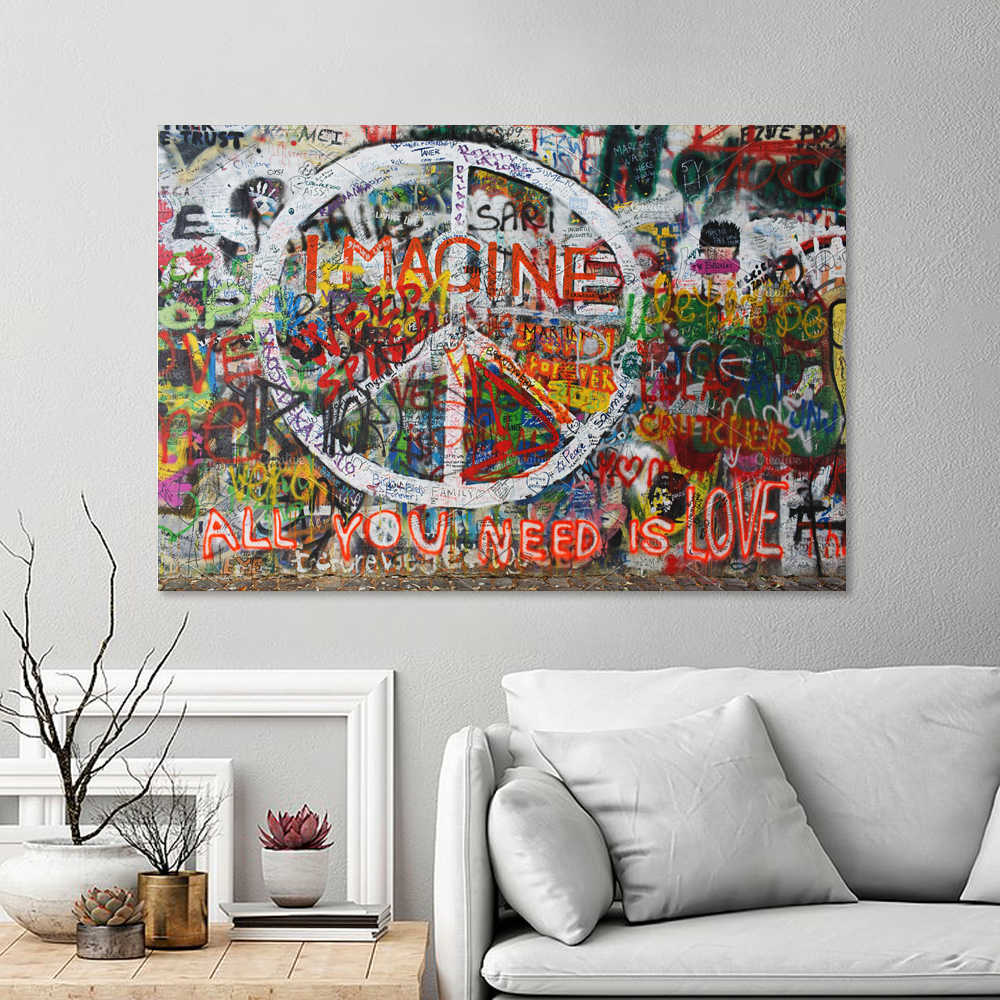 Canvas Wall Art 24x36 inches All You Need is Love and Pizza wall26