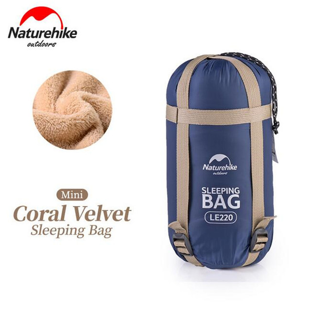 Naturehike Envelope Fleece Filler Sleeping Bag Ultralight Portable 3 Colors Outdoor Camping Travel Single Sleep Pad 190*75cm
