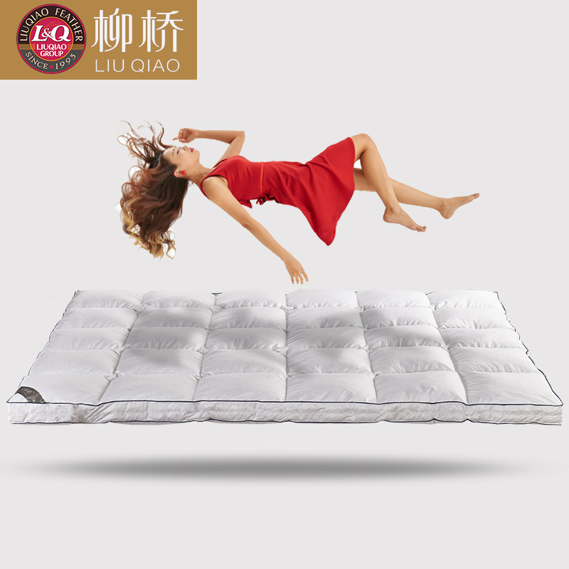 Five-star hotel thickened feather mattress Cotton double tatami Size 90x200cm, 120x200cm, 150x200cm, 180x200cm 120 200cm 150 200cm feather quilted mattress topper with straps home furniture for home five star hotel soft grey 5cm bedspread