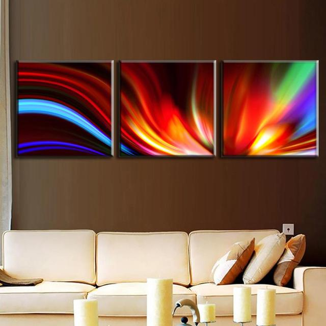 3 Pcs/Set Modern Abstract Painting with Frame Canvas Wall Art ...