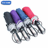 JESSEKAMM New Arrive Reflective strip Safe Compact Folding Fully Automatic 10 Spokes Umbrellas 105CM Suit For 1-2 People 17 Hot