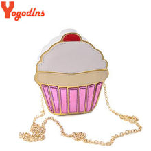 Yogodlns CUTE!Funny Ice Cream Cake Bag Small Crossbody Bags For Women Cute Purse Handbags Chain Messenger Bag Party Bag(China)