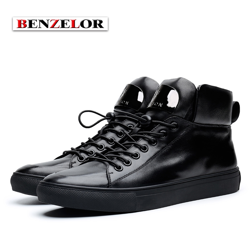 e58abde0a US $121.6 |BENZELOR Men Shoes Winter Genuine leather Casual Snow Boots Men  Pigskin Linning Top Quality Brand Zipper opening SDX6205-in Snow Boots from  ...