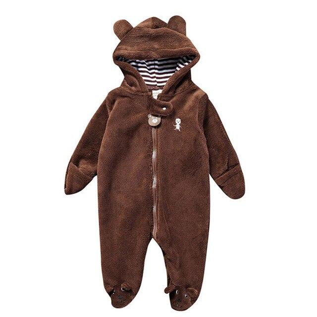 Winter Warm Newborn Baby Girl Boy Autumn Winter Newborn Baby Infant Boy  Girl Bear Hoodie Jumpsuit Romper Sleepwear   Robes T7 db7456c2c
