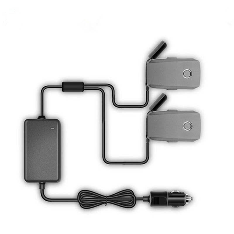 FOR DJI Mavic 2 Pro Zoom 1 To 2 Car Charger For Drone Battery With 2 Battery Charging Fast Charging About 90mins Outdoor Charger