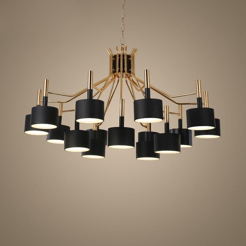 Delightful Modern iron LED Pendant Light creative decoration Nordic art pendant lighting Luxury villa living room lamps