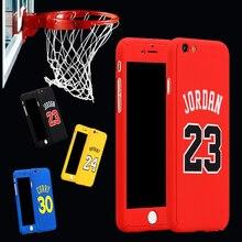 Баскетбол суперзвезда Майкл Джордан Карри Коби Брайант 360 чехол Полный Средства ухода за кожей чехол для Coque iPhone 7 8 6 6S плюс гибридный спортивный Чехол