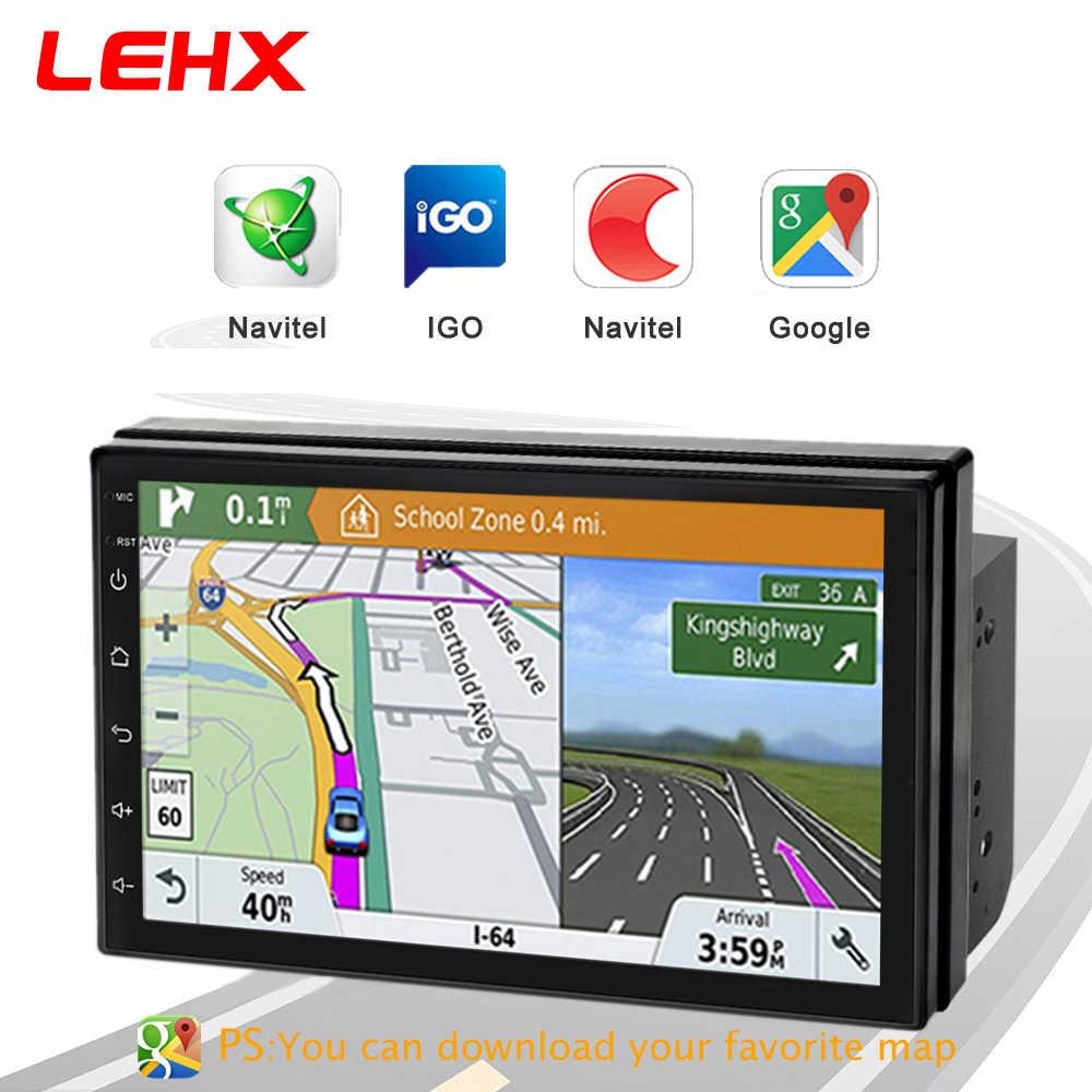 LEHX Car Android 8.1 odtwarzacz multimedialny DVD RAM 2G + ROM 32G GPS samochód z nawigacją 2 DIN Radio DAB dla Nissan Toyota vw