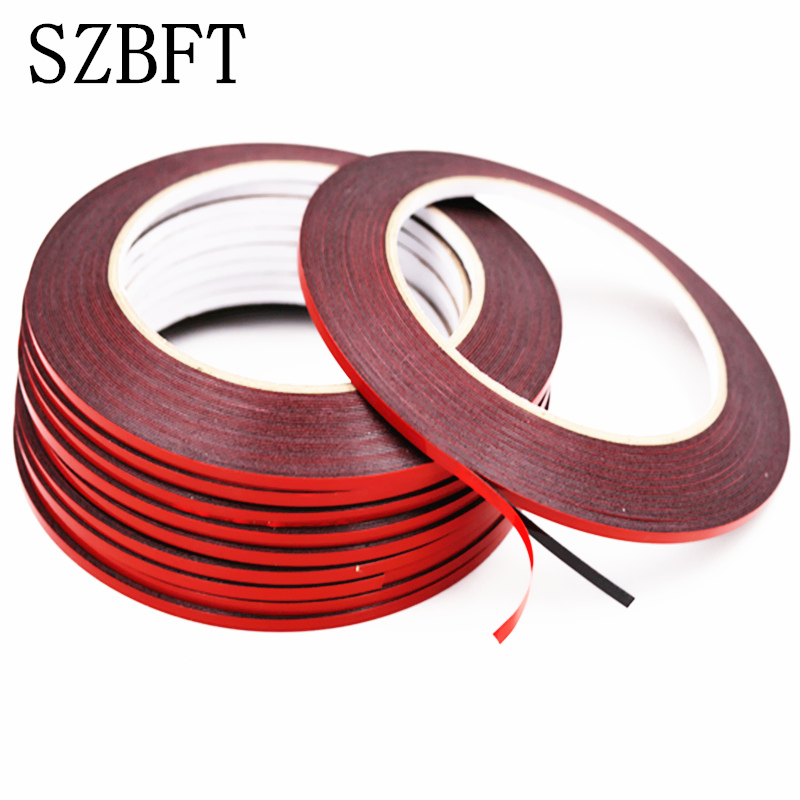SZBFT 2pcs 2m-5mm x10m dust proof 0.5mm thickness Black Double Sided Adhesive Sponge Foam Tape Gasket for Cellphone Repair gappo drains kitchen sink drain overflow hole sink stopper chrome plugs waste pop up waste vanity vessel