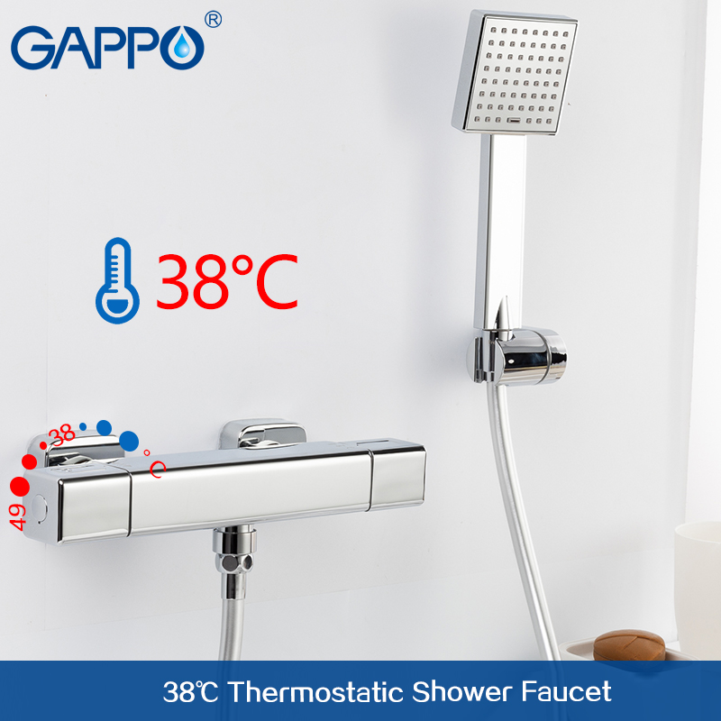 GAPPO shower faucet mixer tap bathroom thermostat faucet Square waterfall wall  bath mixer faucets tap 1.5m Stainless Steel     GAPPO shower faucet mixer tap bathroom thermostat faucet Square waterfall wall  bath mixer faucets tap 1.5m Stainless Steel