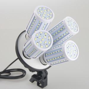 Image 2 - Fotoğraf Stüdyosu Softbox Kiti 8 LED 60w Fotografik aydınlatma kiti Kamera ve Fotoğraf Aksesuarları 2 işık standı 2 softbox kamera Fotoğraf